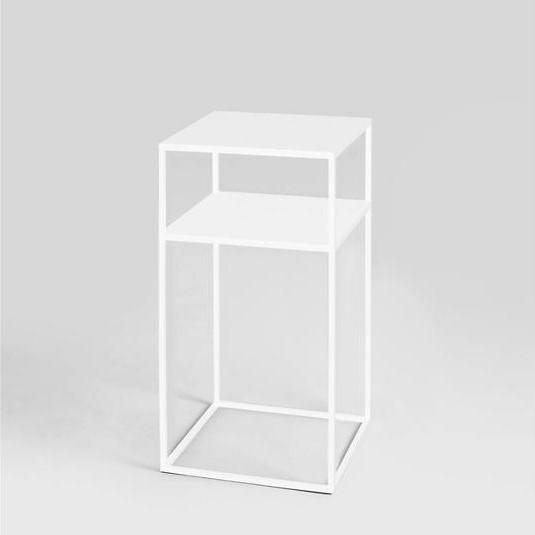 Coffee Table Tensio 2 Metal 30 x 30 cm | White