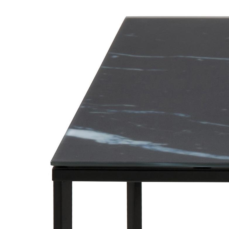 Couchtisch Alisma 80 x 80 | Schwarzer Marmor