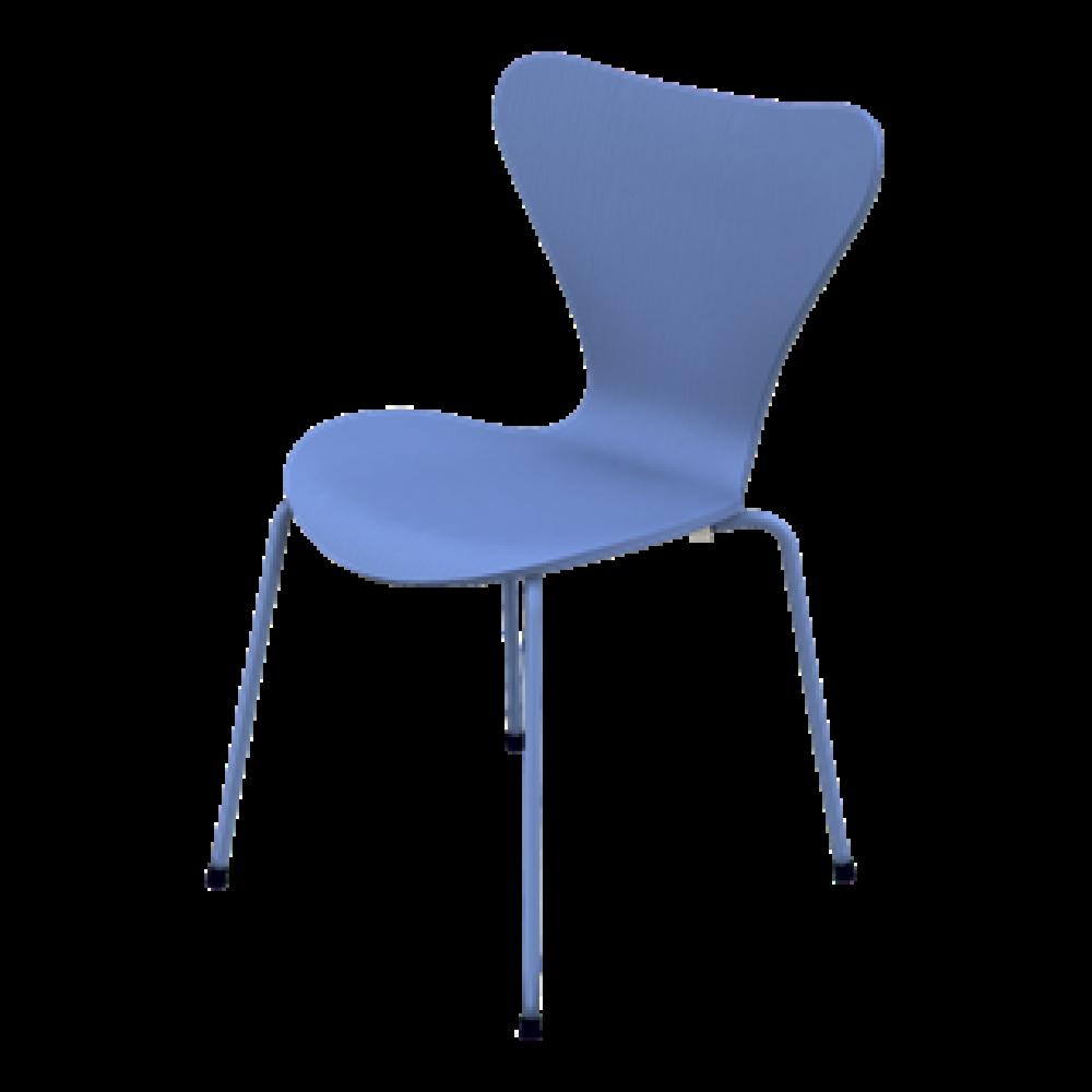 Serie 7 3107 Einfarbiger Stuhl | Triest Blau