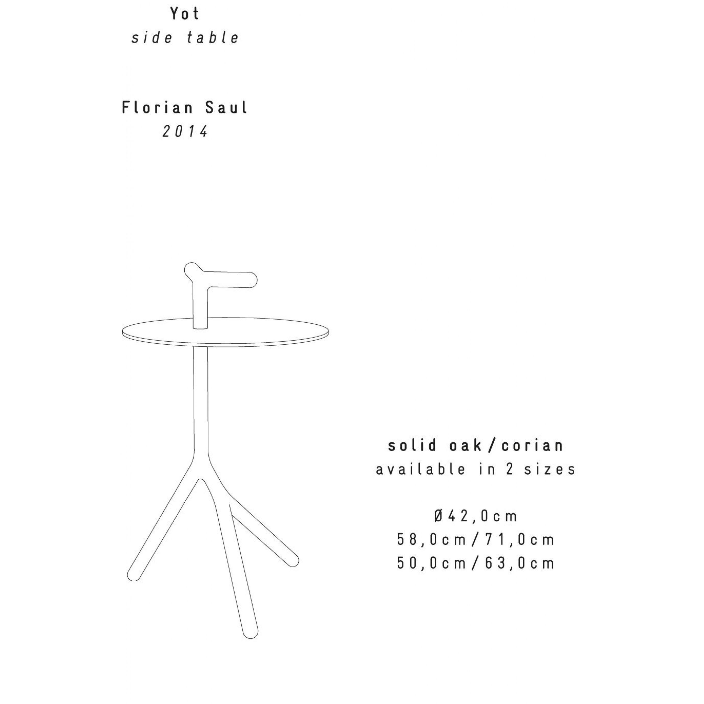 Yot Beistelltisch | Weiß