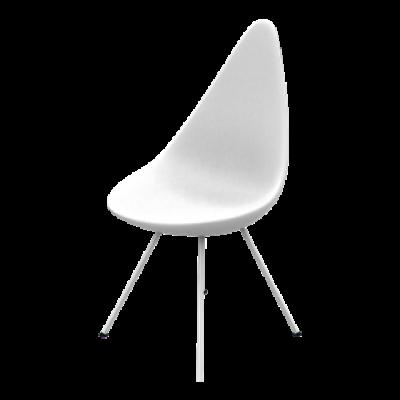 Liegestuhl | Kunststoffschale weiß