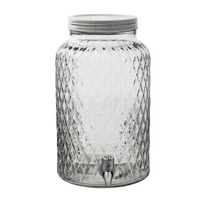 Tiegel mit Hahn   Glas   Klar