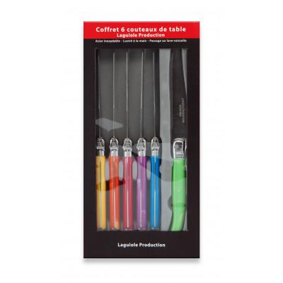 6er-Set Tafelmessern | Mehrfarbig