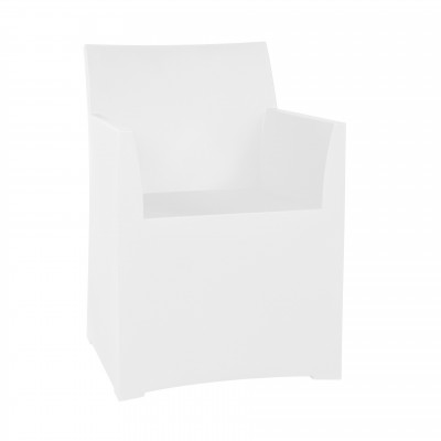 Rainbow Stool with cushion - White