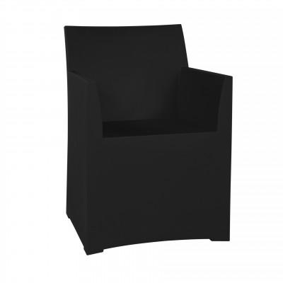 Rainbow Stool with cushion - black
