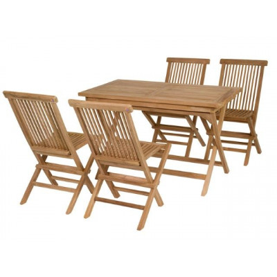 Set of 4 Chairs & 1 Table   Teak