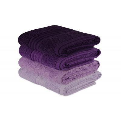 4er Set Handtücher Regenbogen | Lila