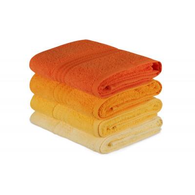 4er Set Handtücher Regenbogen | Gelb