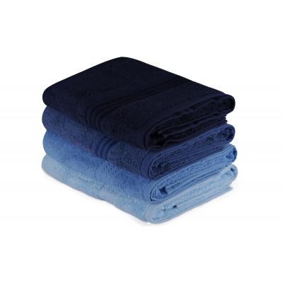 4-er Set Badetücher Regenbogen | Blau
