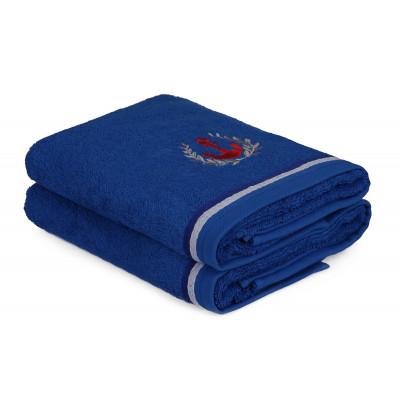 2-er Set Handtücher Maritim | Blau