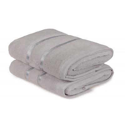 2-er Set Handtücher Dolce | Hellgrau