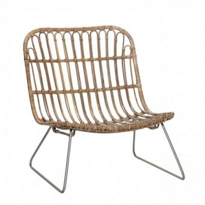 Lounge-Stuhl Rattan | Natur