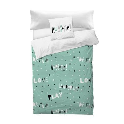 Bettbezug Awesome I Grün 155x220 + 110x45 cm