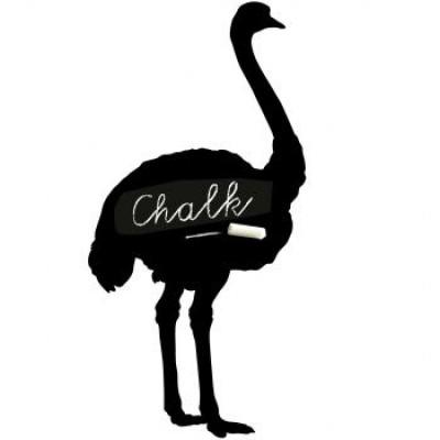Magnetic Chalkboard Sticker | Ostrich
