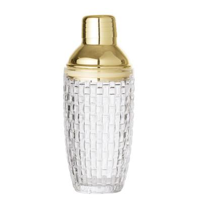 Cocktail Shaker | Glas | Klar + Gold