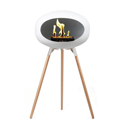Bio Fireplace Ground Wood White 79 cm | Soap Treated Oak