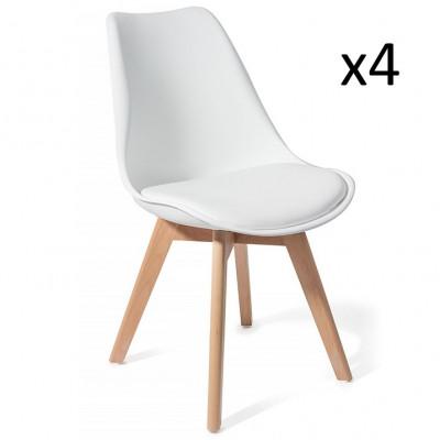 4er-Set Stühle Kiki   Weiß