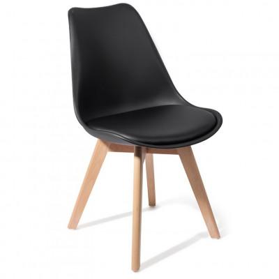 4er-Set   Stuhl Kiki Holz   Schwarz