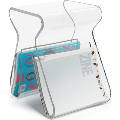 Stool with Magazine Rack Magino   Clear