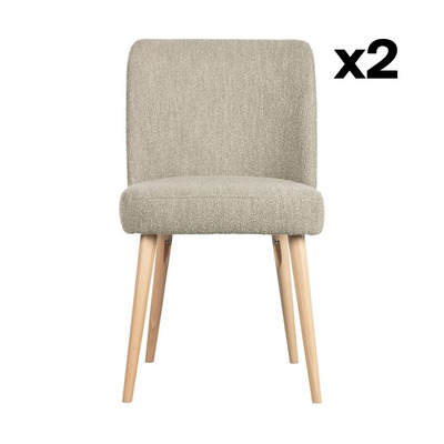 2-er Set Stühle Force | Natürlich