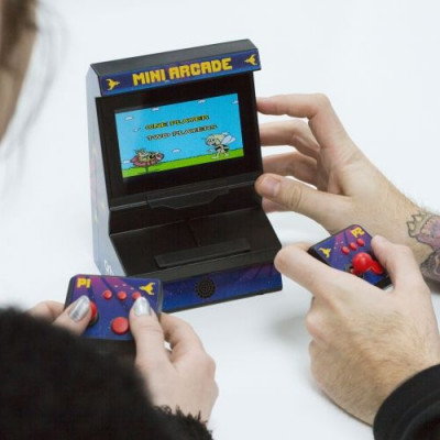 Micro Arcade-Maschine mit Dual-Controller 300 Spiele inbegriffen