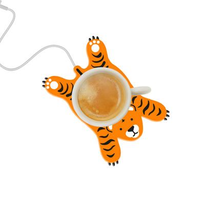 Tassenwärmer Sleepy Tiger | Schwarz und Orange