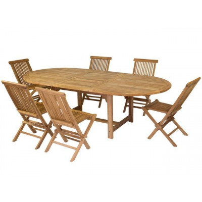 Set of 6 Chairs & 1 Table   Teak