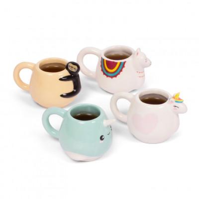 Espresso-Tasse Tiere   4er-Set   30 ml