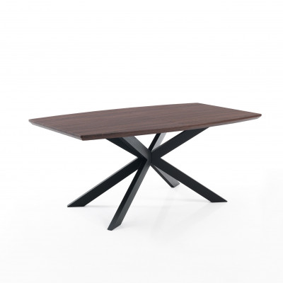 Tisch Hics   Dunkel Holz