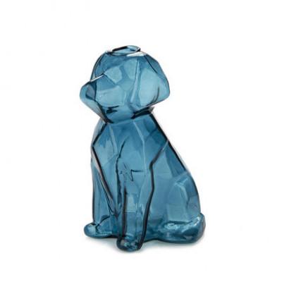Vase Sphinx Hund 15 cm   Blau