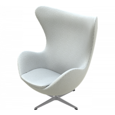 Egg Lounge Chair | Hellgrau Divina Melange