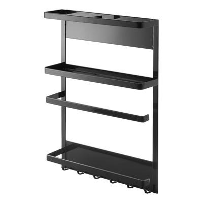 Magnetic Refrigerator Side Rack Tower | Black