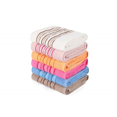 6-er Set Handtücher Serit | Mehrfarbig