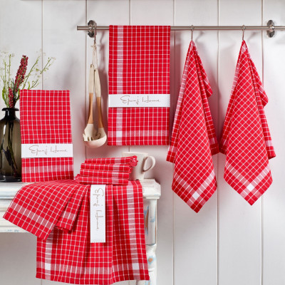 10-er Set Geschirrtücher Kup | Rot