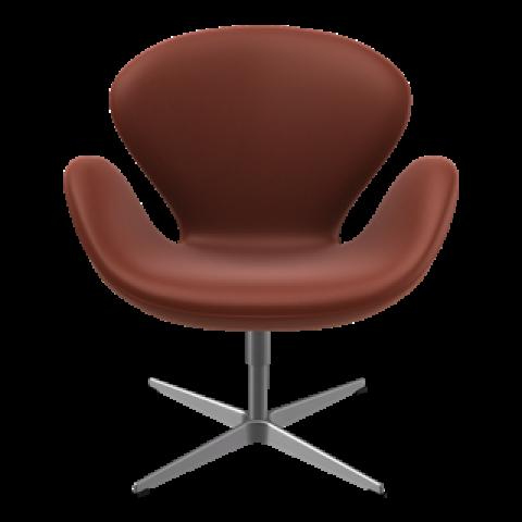 Swan Lounge Chair | Cognac Aura Leather