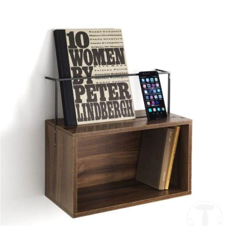 Shelf - Bedside Table Billa | Dark Wood