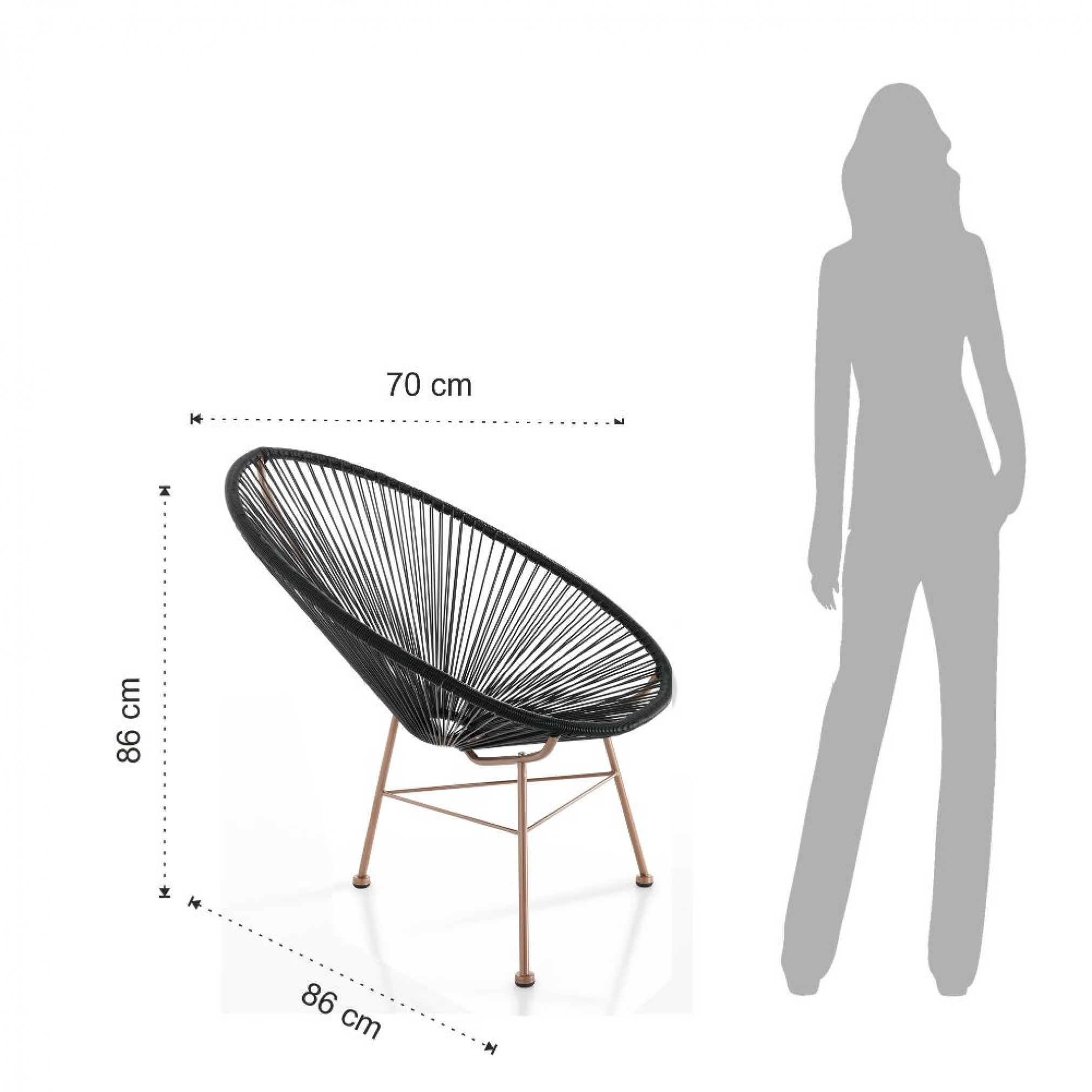 Lounge Chair Numana | Black