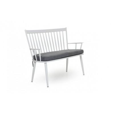 Alvena 2-Sitzer-Sofa mit Kissen | Weiß Matt