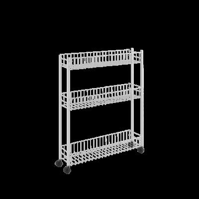 Kitchen Trolley Extra Slim | White
