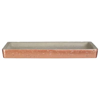 Badezimmerablage Neptun | Kupfer und Beton Klein Rechteckig