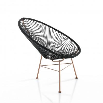 Lounge-Sessel Numana | Schwarz