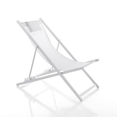 Verstellbarer Strandstuhl Milos | Weiß