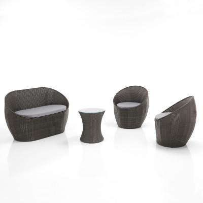 Wohnzimmer-Set für den Außenbereich Favignana | Grau