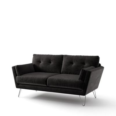 2-Sitzer-Sofa Tido   Schwarz