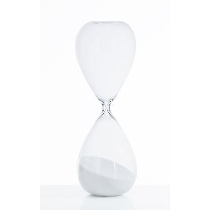 Hourglass Tomtime   White Sand
