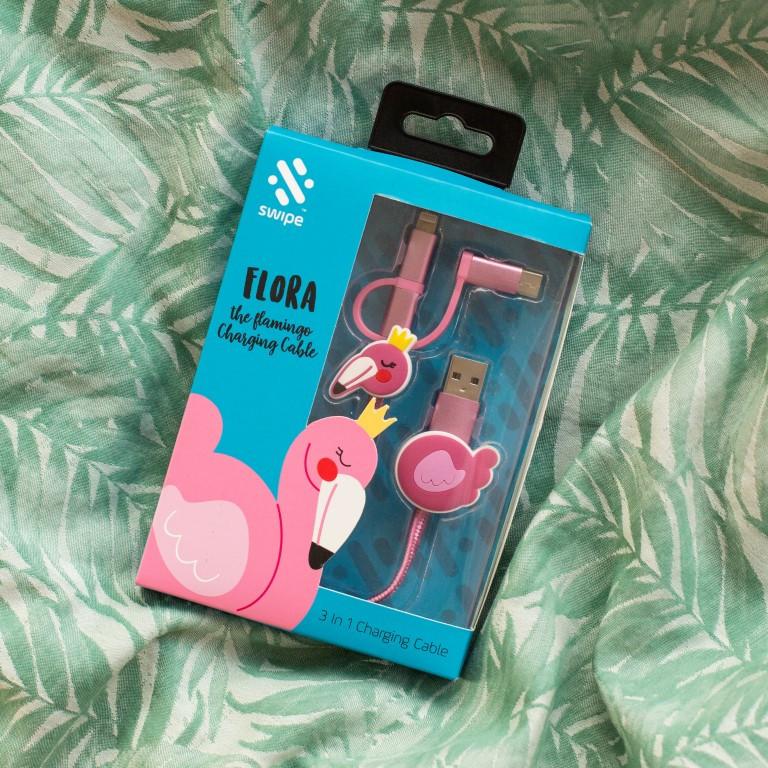 3-in-1-Ladekabel   Flamingo