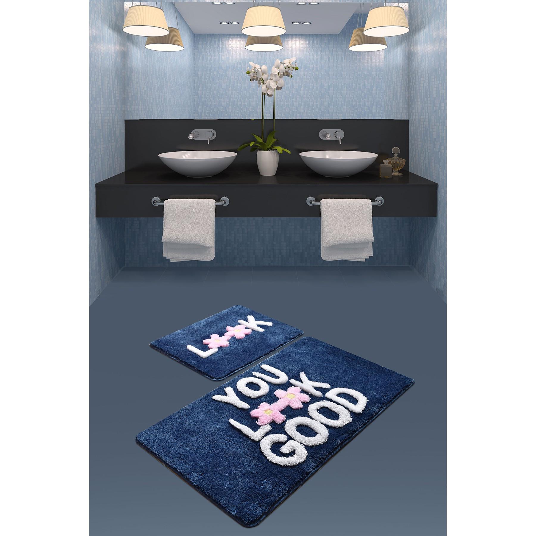 Tapis de Bain Set de 2 | You Look Good Bleu