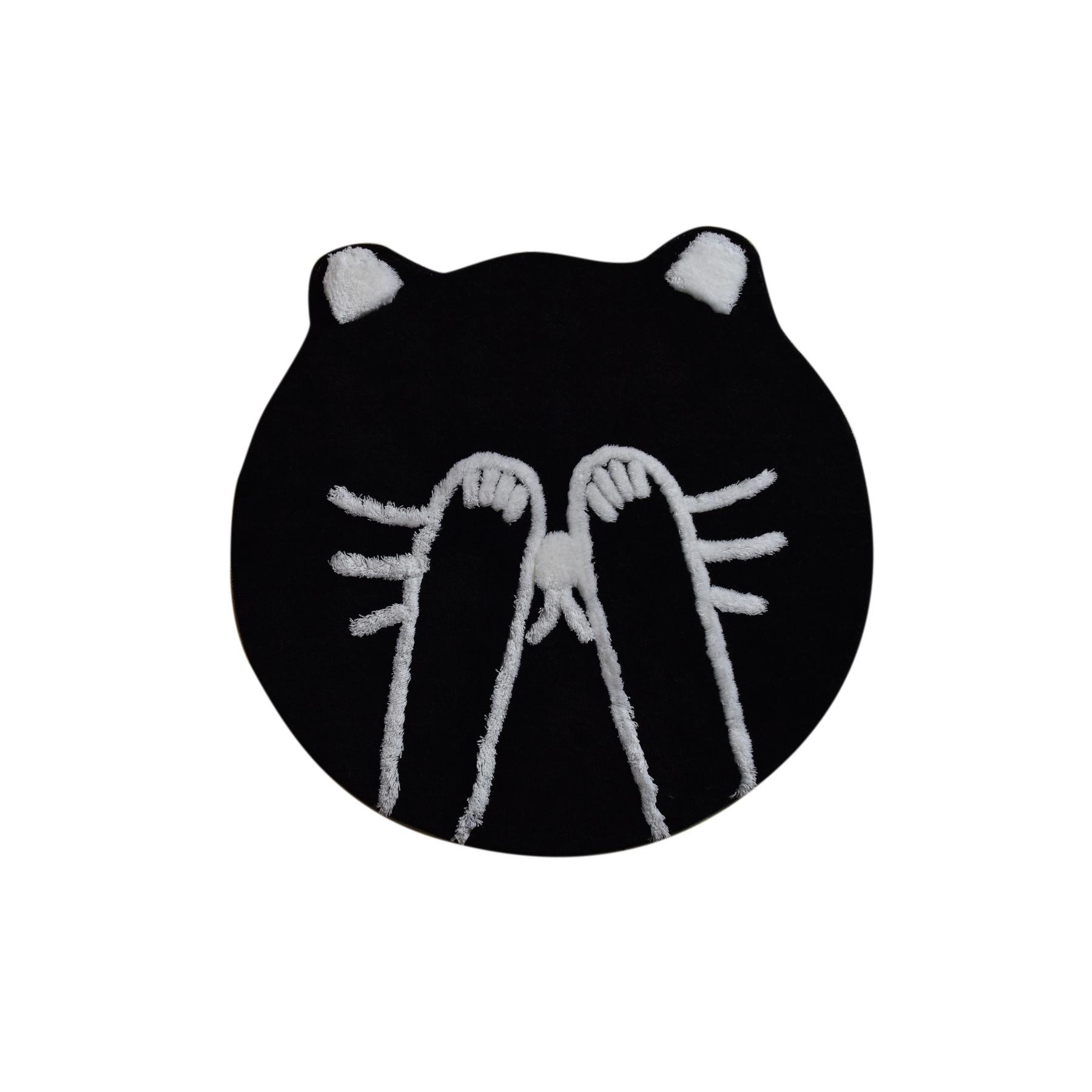 Tapis de Bain Shy Cat | Noir
