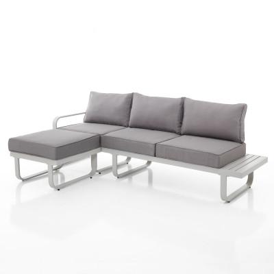 Outdoor-Sofa 3-Sitzer Ishia | Grau