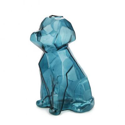 Vase Sphinx Hund 23 cm   Blau